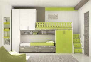 Chambres lits superposés