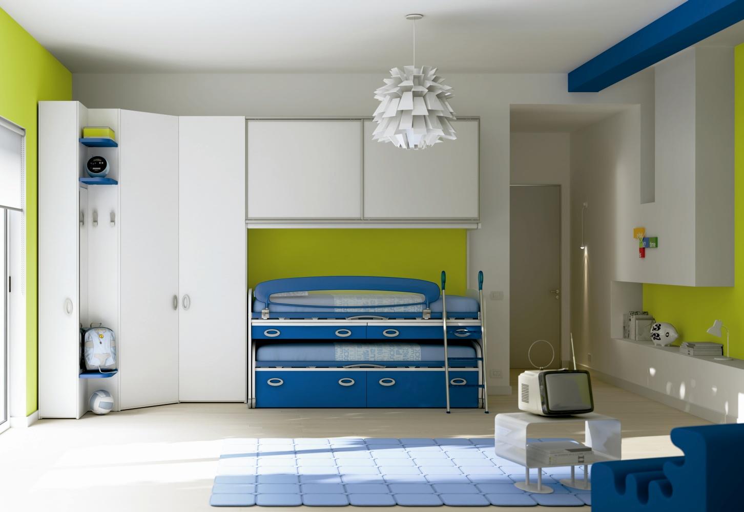 Chambre enfants lit double